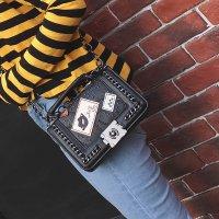LL631# 绣线徽章链条包