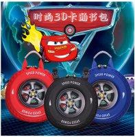 男女3D汽车轮胎幼儿园零食双肩书包斜跨包亲子包ZXW132