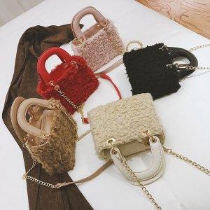 NEX612#羊羔毛手提包