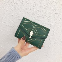 钱包女欧美时尚个性铆钉学生折叠小清新蛇头钱夹TGHZ8109