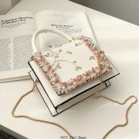 蕾丝刺绣小方包百搭链条单肩斜挎包YD1988