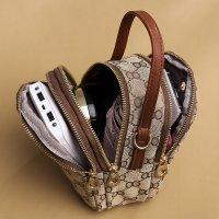 新款时尚手机包多层单肩手提老花帆布包XY1606