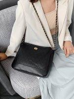 单肩女包大包韩版菱格百搭链条包时尚多层锁扣包XCY1084