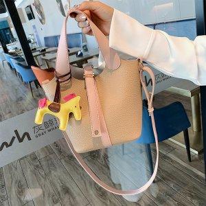 流行新款潮韩版百搭斜挎包时尚手提水桶包GSS1920