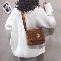 韩版潮款单肩包洋气百搭少女毛绒小方包FXB2506