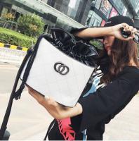 2017新款欧美时尚小香菱格抽绳水桶包 单肩斜挎小包包LT2171